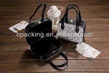 Fashion handle paper gift box, handmade gift box for women