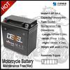 Maintenance Free Lead Acid Electric Motorcycle Battery Pack 12N9-BS(12V 9AH)