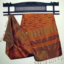 100 Silk Brocade Scarf/shawl/ Tapestry Laos Laotian Thailand