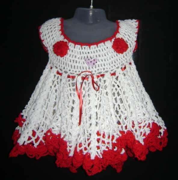 Fotos de vestidos para niña hechos a ganchillo - Imagui