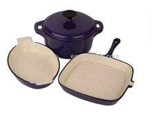 Enamel Cast Iron Cookware 3PCS