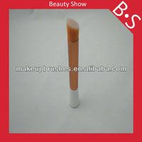 Golden yellow handle angular foundation makeup brush,2013 best cosmetic foundation brush,free sample