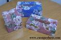 élégante boîte de tissu acrylique avec un motif coloré