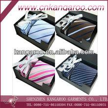 Custom Newest Gift Box Set 100% Real Silk Tie