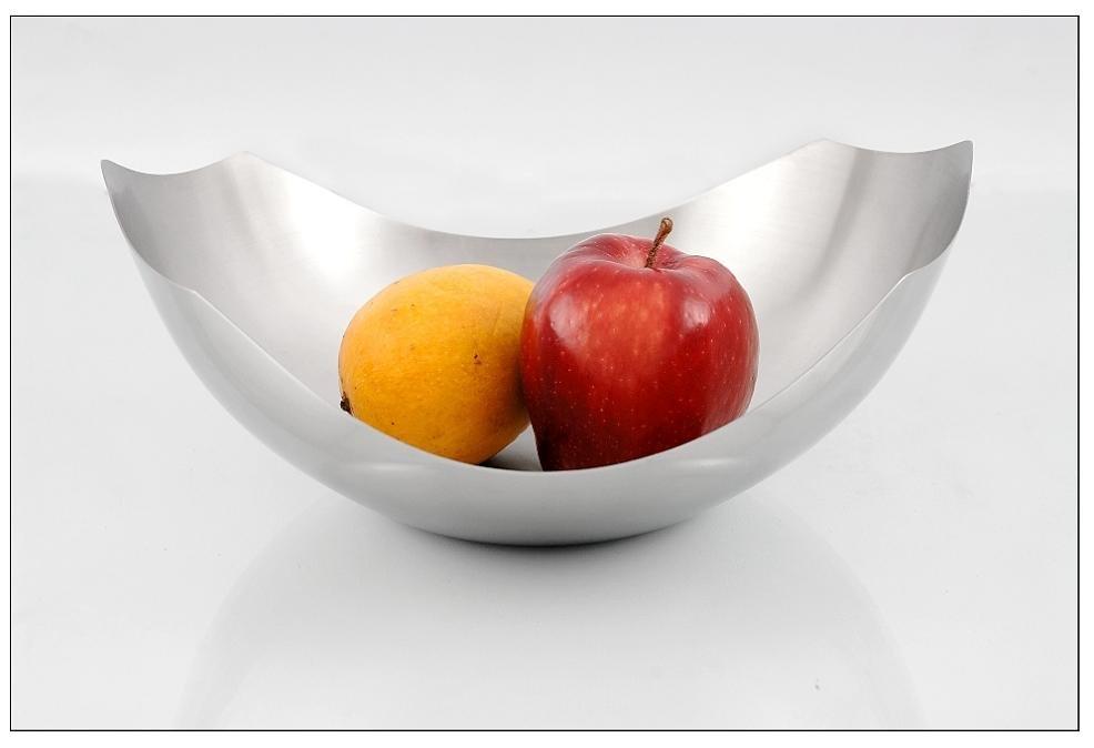 Stainless steel slice fruit bowl view mayur