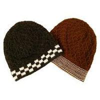 Pomotioan Latest style Acrylic Knitted Stripe Beanie Hat