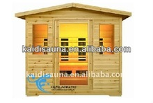 3people Outdoor far infrared wood sauna house with ceramic heater(KD-5003H)