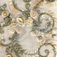 Straw-work Embroidery fabric