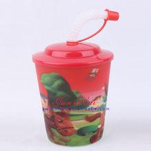 250ml( 9 oz) pp 3d plastik bardak ve tabaklar çay dökme( 715#- U)