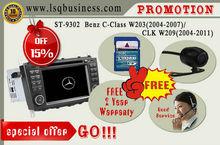 LSQ Star car audio player Mercedes C class W203 with GPS navi,Radio,BT,CANBUS SWC,best Mercedes Original kept,2year warranty.