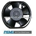 La ventilación de ca pequeña negro mini ventilador 220v 172*150*51mm
