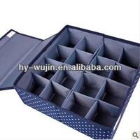 foldable fabric underwear storage box with 16 girds