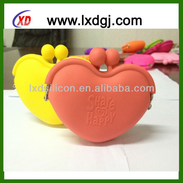 12 colors stock! coin purse silicone promotional items 2013