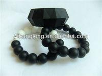 Black Rosary Custom Bracelet Silicone