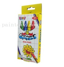 4 colors nontoxic wax crayons for kids and students
