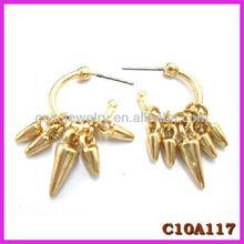 2013 new design Golden tassels tear earring