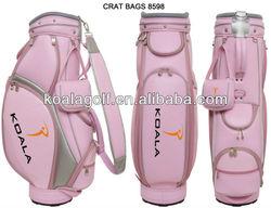 OEM golf bag,Luxurious Pink golf bag,fashion design for Lady