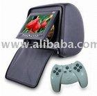 "Headrest 7"" LCD Car Monitor DVD Player FM USB SD"