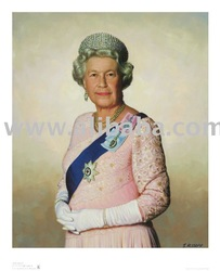 Her Majesty the Queen Digital Giclee print on Hahnemuhle 310 gsm paper