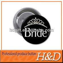 fancy plain button pin for brides