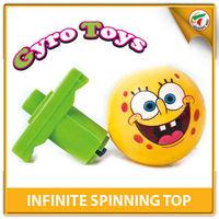 Hot Selling Cute Cartoon Spongebob Spinning Toy Top Infinite Toy For Kids With EN71
