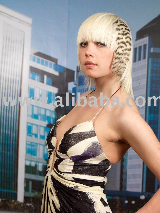 See larger image: HAIR TATTOO - SAFARI EXTENSIONS - ZEBRA