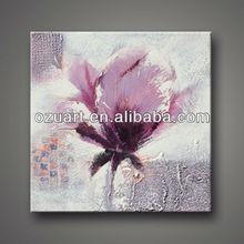 Handmade wall art on canvas modern flower oil painting A187