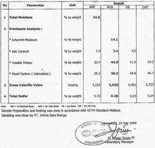 Steam Coal GCv 5,500 - 5,300 US$ 40/MT FOB barge