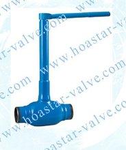 long stem welded ball valve