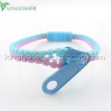 New Trend fashion ZB-23 friendship zipper zip plastic zipper bracelets bangles Light blue/pink colors!! !!