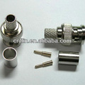 Bnc Plug Crimp Coaxial conector 3-Piece para RG6