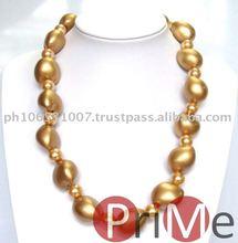 Kukui Choker (Gold) with Beads
