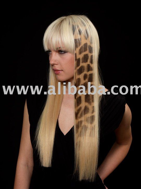 SAFARI HAIR EXTENSION - HAIR TATTOO GIRAFFE · View Original Size