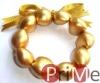 Gold Kukui Nut Bracelet