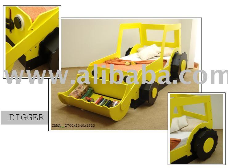 Baggerspielzeug Bett Kinderbett Produkt ID107504744