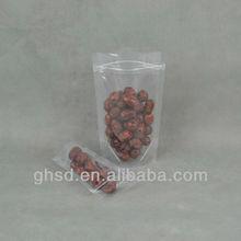 stand up zipper pouch / clear zipper pouch / plastic ziplock bag