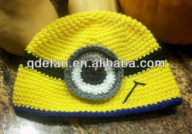 Personaje de dibujos animados minion sombrero a ganchillo ...