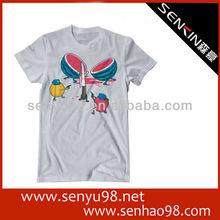 Cheap O-neck Fashion Advertising T-shirt Men Grey Cotton 2012
