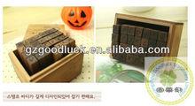 Antique alphabet wooden stamp set supplies/Classic alphabet wooden stamp set supplies