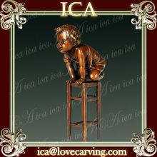 ICA,Metal body sculpture,metal casting figure EP-650