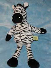 soft plush stuffed black white animal zebra