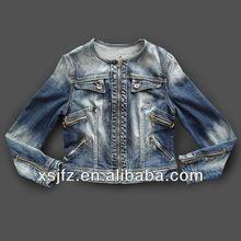 2013 chaqueta de los pantalones vaqueros jeans mujer la fábrica guangzhou