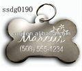 cina 2014 prezzo di fabbrica di promozione regalo di moda in acciaio inox cane tag stampa foto tag cane