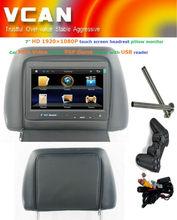 car pillow tft lcd monitor/Car MP5 Player 7 inch HD Digital screen FM/IR Game USB headrest