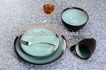 hot sale western style metallic finish brilliant dinnerware set