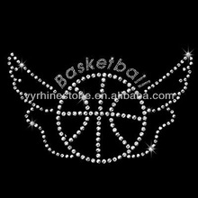 Basketball with Wing Heat Rhinestone Transfers Designs