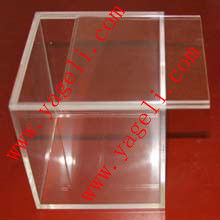 acrylic clear box with sliding lid