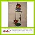 swing de navidad de metal la decoración ladybut subibaja swing