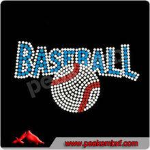 Hotfixs Rhinestones Baseketball for Custom Rhinestone T-shirts