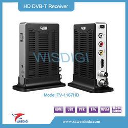 2013 DVBT TV Receiver Box - Digital TV Tuner Reception Receiver Box system DVB T MPEG4 Receiver,mini full hd dvb t set top box
